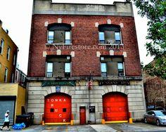 FDNY Engine 271/Ladder 124 - Bushwick - Brooklyn, New York.  Great group of men! Photo by nyfirestore.com #fdny #nyfd #firestation #firehouse #nyc #firefighters #firedept #engine #firetruck #apparatus