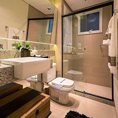 Aria Residence, apartamentos na Gleba Palhano em Londrina. Banheiro.