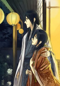 Byakuya & Hisana. I always feel sad for Byakuya when I see pictures of the two of them. He was happy once, but even in that he wasn't completely happy because she never could fully return his love. Then he lost her and he locked his heart away from the world. I feel his brokenness. Maybe that's why he's one of my favorites.