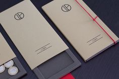 Prototype of restaurant bill holder. Sliding and folding version.HandMade with cardstock and krafted paper (Fedrigoni Materica)