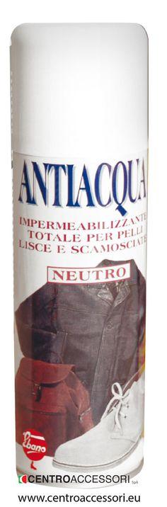 Antiacqua Spray. Spray waterproofing. #CentroAccessori
