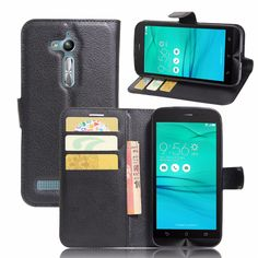 For Asus Zenfone Go ZB500KL ZB500KG 5.0 inch Case Flip Wallet Style PU Leather Back Cover With Magnet Stand Function #Affiliate
