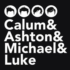 5sos Fan Hoo 5 Seconds Of Summer Clothing With Band Member Names In