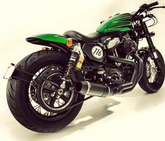 """Whatever your view on """"custom bikes"""" each one is going to appeal differently to different people. Take Andy M's Harley Davidson Sportster 48 for example. Sportster 48, Harley Davidson Sportster 1200, Custom Sportster, Harley Bobber, Custom Harleys, Custom Bikes, Harley Davidson 48, Custom Helmets, Cafe Bike"""