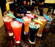 Looking for the best mixed drinks to serve at your next party? Find 5 cocktail recipes that your guests are sure to love. Includes recipes and pictures for Spring Water, Blue Hawaiian, Woo-Woo, Pain Killer, and Lynchburg Lemonade.