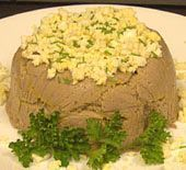 Jewish-Style Chicken Liver Pate Recipe don't need chicken fat/margarine. Chicken Liver Recipes, Chicken Liver Pate, Chicken Livers, Pate Recipes, Onion Recipes, Cold Appetizers, Appetizer Recipes, Foie Gras, Kosher Recipes