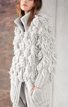 Mohair Cardigan, Cardigan Au Crochet, Crochet Jacket, Knit Jacket, Fringe Cardigan, Knitwear Fashion, Cardigan Fashion, Crochet Fashion, Pull Crochet
