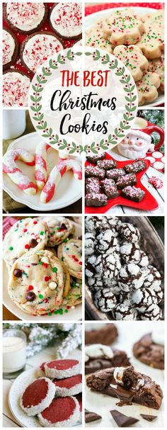 Try some of these delicious Christmas cookie recipes for your holiday baking. Perfect for Christmas cookie exchanges, holiday gatherings, or Santa!