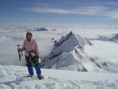 Junko Tabei in May of 2006 on Mount Everest