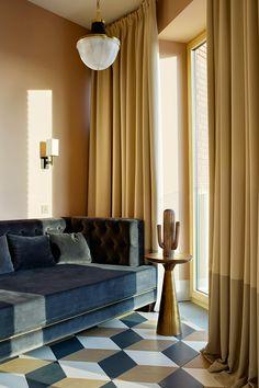 Изысканные современные апартаменты в Москве от Катерины Лашмановой | Пуфик - блог о дизайне интерьера