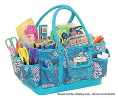 Gifts for Crafters: This is an all-purpose craft tote, with lots of room for all her supplies.