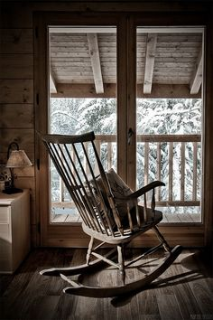 old wood and rocker