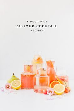 5 refreshing cocktail recipes to keep you cool all summer long #makeeverydaysparkle #loveyourcitymore #sponsored Msg for 21+