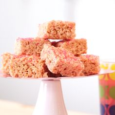 Pink Lemonade Crispy Cereal Treats