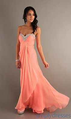 Long Strapless Gown for Prom by Blush at SimplyDresses.com