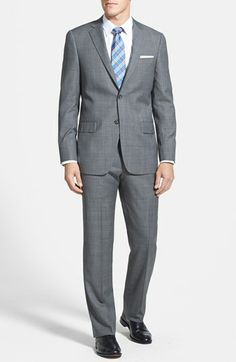 Hart Schaffner Marx 'New York' Classic Fit Wool Suit available at #Nordstrom