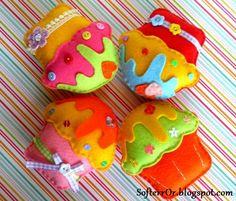 SofterrOr - Χειροποίητες Κατασκευές: ♥ Μπομπονιέρες Βάπτισης: Τα Χαρούμενα Cupcakes!!! ♥