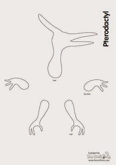 Resultado de imagen para moldes de  papel  para globos de terodactilo