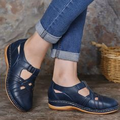 Hot-sale Lostisy LOSTISY Women Comfy Soft Stitching Hook Loop Flat Shoes - NewChic Mobile Source by yeclana outfit Shoe Boots, Shoes Sandals, Dress Shoes, Flat Shoes, Site Mode, Blouse Outfit, Cute Shoes, Womens Flats, Fashion Shoes