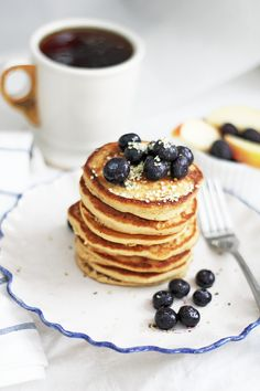 Gluten Free Pancakes – A Happy Healthy Heart Gluten Free Pancakes, Side Plates, Sunday Brunch, Recipe Of The Day, Sweet Tooth, Food Porn, Snacks, Baking, Healthy Heart