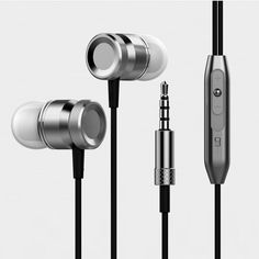 Tnowes Stereo HeadPhone In Ear Earphone Metal Handsfree Headset with Mic 3.5mm Earbuds For All Phone MP3 Player #Affiliate