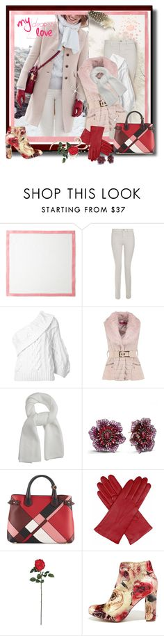 """""""My Dearest Love🌹"""" by tmcintyre ❤ liked on Polyvore featuring Deborah Rhodes, J Brand, Rosie Assoulin, Boohoo, Lemaire, Effy Jewelry, Burberry, Dents, Nearly Natural and Liliana"""