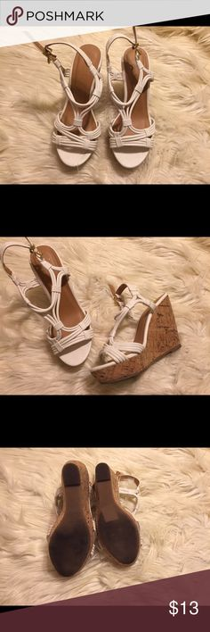 White wedges wedges in perfect conditions true size Shoes Wedges