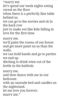 Best way to ask someone to marry you.