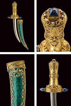 A silver gilded and enameled mounted dagger:dating: circa 1900 provenance: Austria