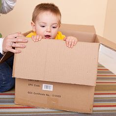 Activities to Enhance Large Motor Skills: 12-18 Months: Boxes Make Great Toys (via Parents.com)