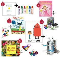 Book Plus: Literacy-Inspired Gifts Kids Will Love! This book list is awesome!  Fantastic books plus the perfect fun gift to bring it to life!