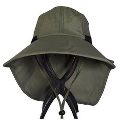 JFS Mens Summer Outdoor Quick Dry UV Protection Sun Hat Fishing Hat - Army  Green - 5ad706e7a221