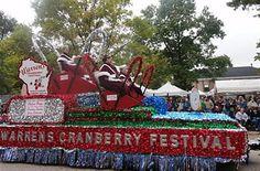 Warrens Cranberry Festival  When: Sept. 28–30, 2012  Where: Warrens, Wisconsin