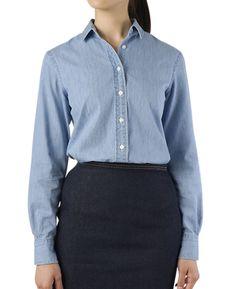 カジュアルシャツ(7 ブルー系): レディース   メーカーズシャツ鎌倉 公式通販   MAKER'S SHIRT KAMAKURA