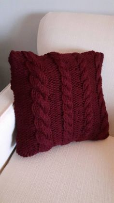 Knit Pillow Covers by PropsLittleBlessings on Etsy