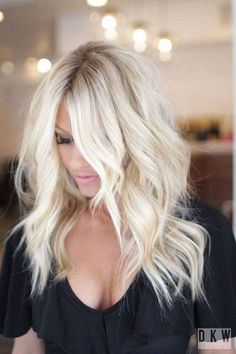 Golden Blonde Balayage for Straight Hair - Honey Blonde Hair Inspiration - The Trending Hairstyle Cool Blonde Hair, Platinum Blonde Hair, Ash Blonde, Blonde Color, Blonde Roots, White Blonde, Blonde Wig, Blonde Ombre, Platinum Blonde Highlights