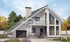 200-007-L Two Story House Plans and mansard with garage, luxury Drawing House