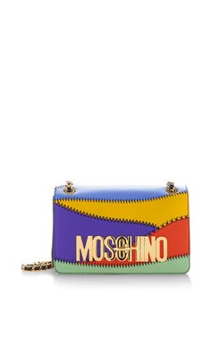 Patchwork Flap Bag by Moschino for Preorder on Moda Operandi