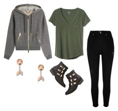 """""""Sin título #493"""" by marti1d ❤ liked on Polyvore featuring Burberry, Gap, River Island and FOSSIL"""