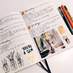 Beautiful scrapbook style bullet journal