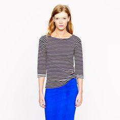 Mariner-stripe boatneck tee - knits & tees - Women's new arrivals - J.Crew