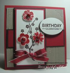 FS97 Red Blooms by nitestamper - Cards and Paper Crafts at Splitcoaststampers