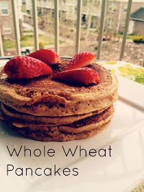 Happy Wholesome: Whole Wheat Pancakes
