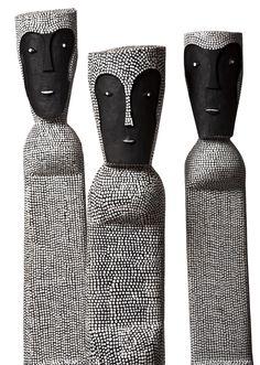 'Wirrah Bun Bun' by Australian artist Jeremiah Bonson (b 1982). Acrylic on cottonwood. via Shalini Ganendra Fine Art