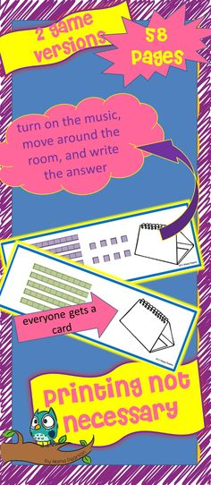 Place Value game that uses MOVEMENT AND MUSIC
