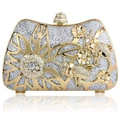 Kate Ketzal's beautiful Spring Bloom Crystal Clutch, in either silver or gold. This would make a great bridal clutch or bridesmaid gift!