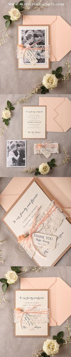 Say Thank You ! Peach Wedding Thank You Cards ! #weddingideas #weddings