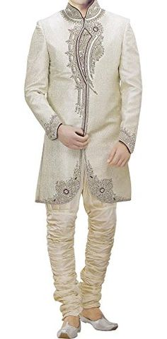 INMONARCH Mens Luxurious Ivory Brocade Indo Western IN304  http://www.allmenstyle.com/inmonarch-mens-luxurious-ivory-brocade-indo-western-in304/