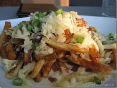Cheese fried with pulled rib meat and spicy queso cheese sauce. The Shaved Duck in stl