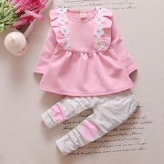 Winter Baby Clothes, Baby Kids Clothes, Toddler Girl Outfits, Toddler Fashion, Kids Outfits, Kids Fashion, Clothes For Women, Dress For Girl Child, Little Girl Dresses